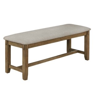 Weslyn Upholstered Wooden Frame with Chamfered Legs Bench by Gracie Oaks