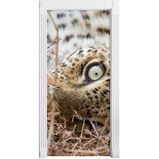 Leopard Door Sticker By East Urban Home