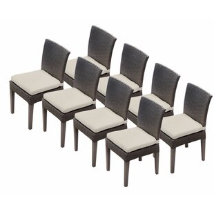 Tegan Patio Dining Chair with Cushion (Set of 8)