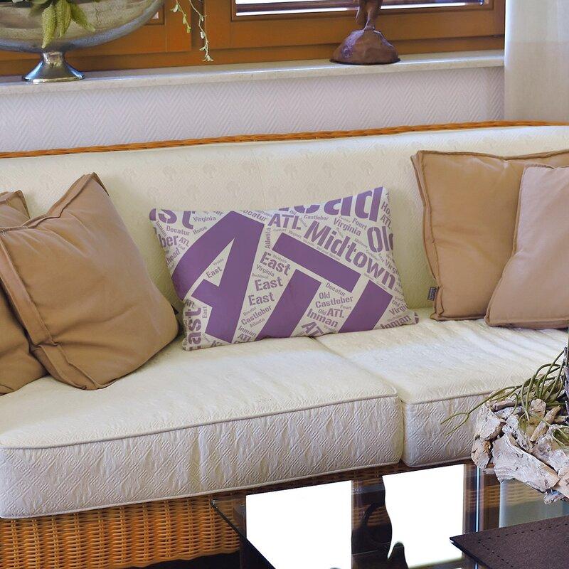 East Urban Home Rand Cites City Barhood Districts Lumbar Pillow Wayfair