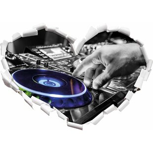 DJ At Work On Turntable Wall Sticker By East Urban Home