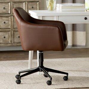 violet faux leather desk chair