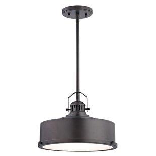 17 Stories Claughaun 1-Light LED Drum Pendant