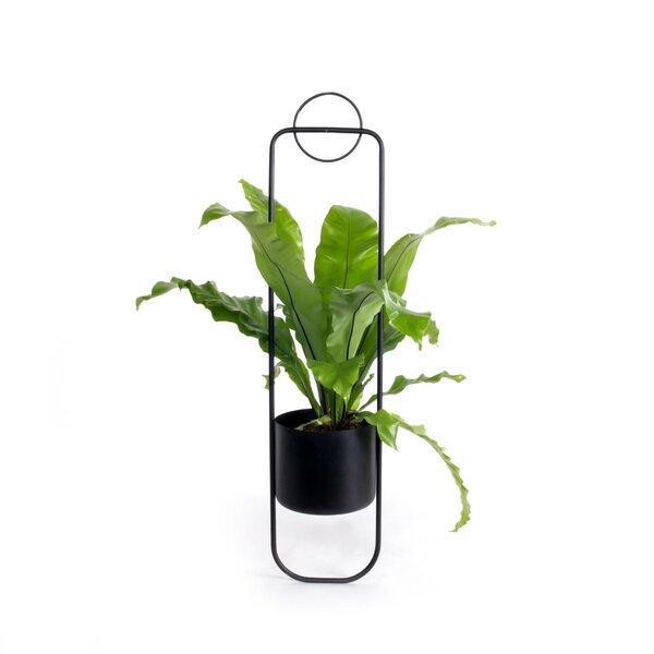Black Cabilock Flower Pot Holder Iron Art Hanging Baskets Garden Pots Planters Metal Bucket for Patio Balcony Porch Fence