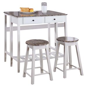 Cardwell Breakfast 3 Piece Dining Table Set by W..
