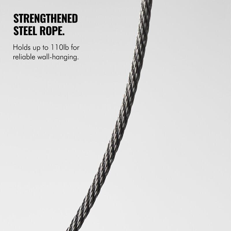 "VonHaus Ultra Slim Picture Frame Wire Rope Wall Mount TV Bracket for 37-70/"" TVs"