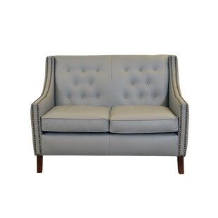 Woburn Leather Loveseat