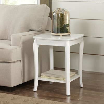 Au Side Table Color: White by Darby Home Co