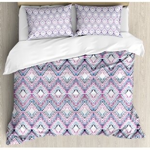 East Urban Home Paisley Abstract Tribal Seamless Design with Ornamental Elements with Geometric Details Duvet Set
