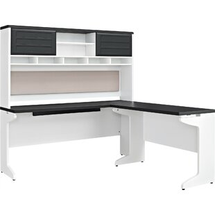 Shorewood L-Shape Executive Desk with Hutch by Winston Porter