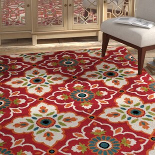 Bethea Red Indoor/Outdoor Area Rug