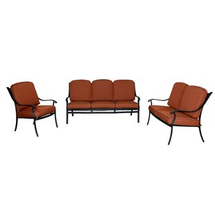 Sunderland 3 Piece Sofa Seating Group with Sunbrella Cushions