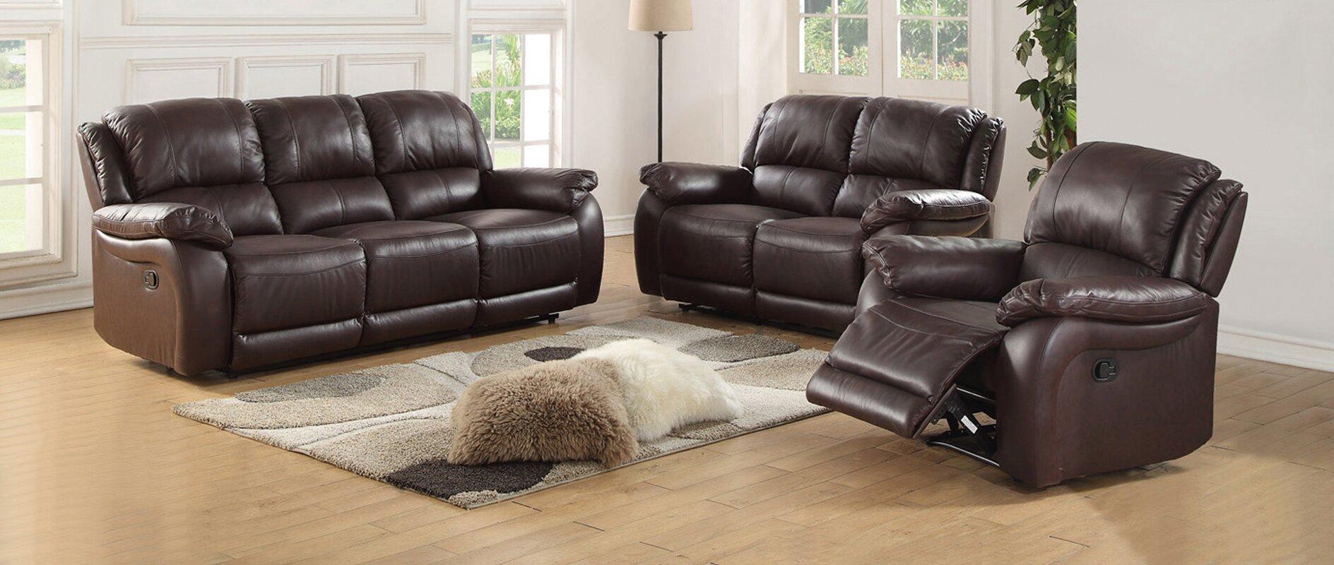 Latitude Run Juan 2 Piece Leather Living Room Set & Reviews | Wayfair
