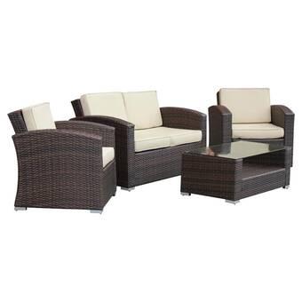 Kappa 4 Piece Rattan Sofa Set With Cushions Reviews Allmodern