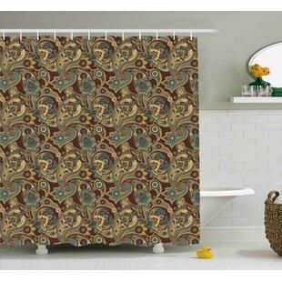 Bautista Persian Hippie Florets Shower Curtain ByBloomsbury Market