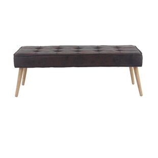 Padula Eclectic Rectangular Solid Wood Bench by George Oliver
