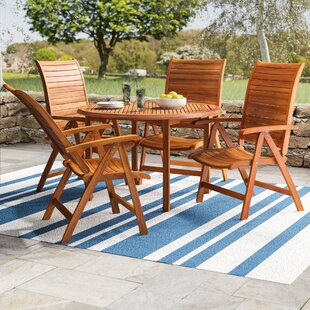 Elsmere Teak 5 Piece Dining Set