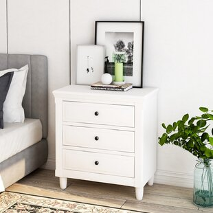 Wanetta 3 Drawer Nightstand