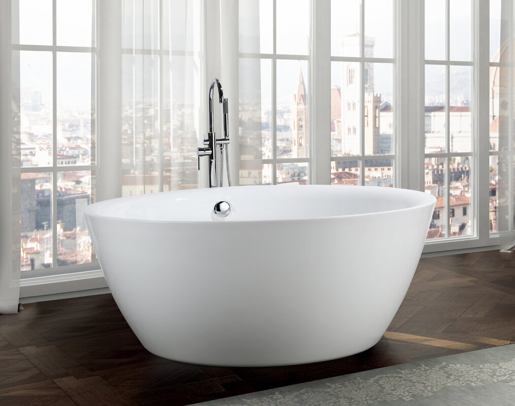 Sleek Acrylic Freestanding Bathtub