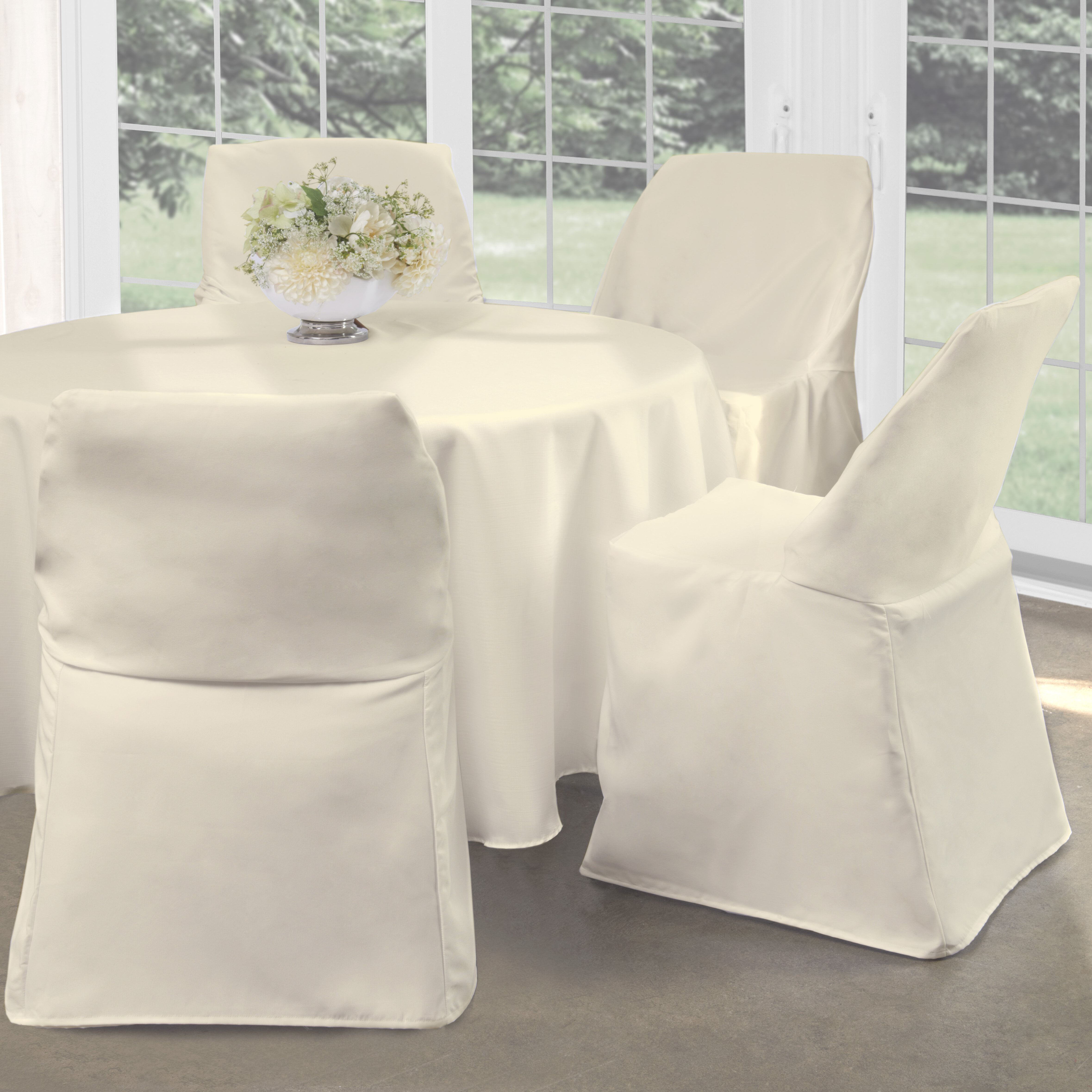 Folding Box Cushion Dining Chair Slipcover