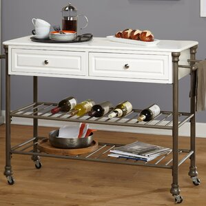 Larose Kitchen Cart by Alcott Hill