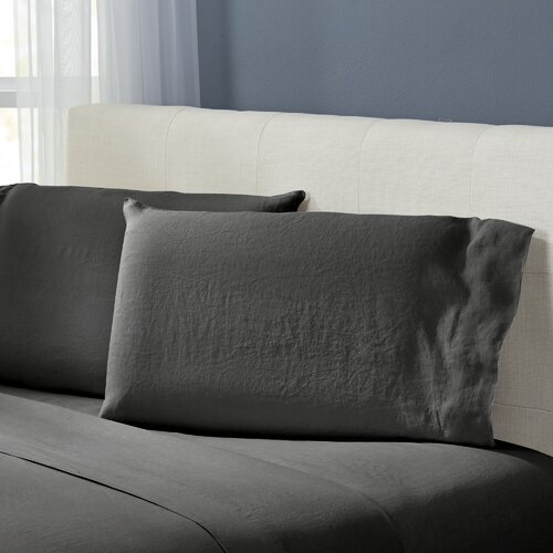 Emeline Linen Reversible Duvet Cover Set Reviews Allmodern