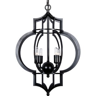 Noir 4-Light Foyer Pendant