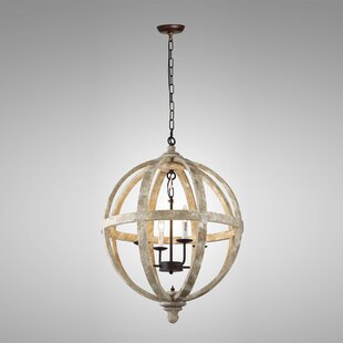 Gracie Oaks Ryne 4-Light Globe Chandelier