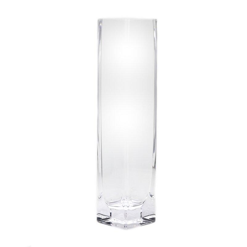 Latitude Run Cestar Clear 10 Glass Table Vase Wayfair