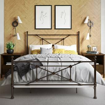 Millwood Pines Antigo Solid Wood Low Profile Standard Bed Wayfair