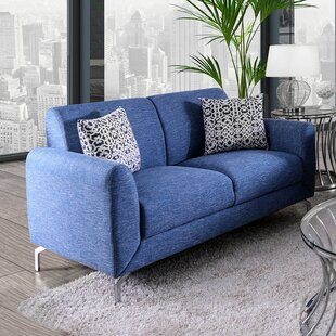 Dean Contemporary Loveseat by Wrought Studio