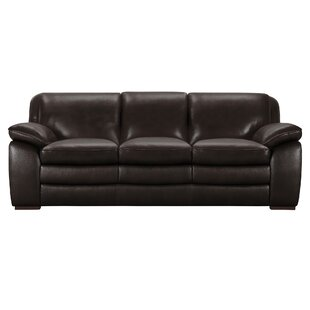 Talon Contemporary Leather Sofa Latitude Run