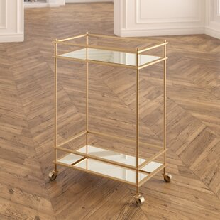 Walter Mirrored Bar Cart by Everly Quinn