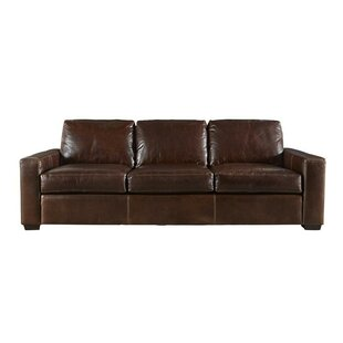 Dansville Three Seat Full Top Grain Leather Sofa