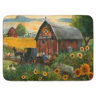 Lexi Sunflower Country Paradise Barn Memory Foam Bath Rug