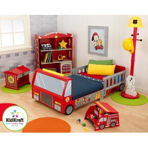 Marvelous Firefighter Toddler Car Customizable Bedroom Set