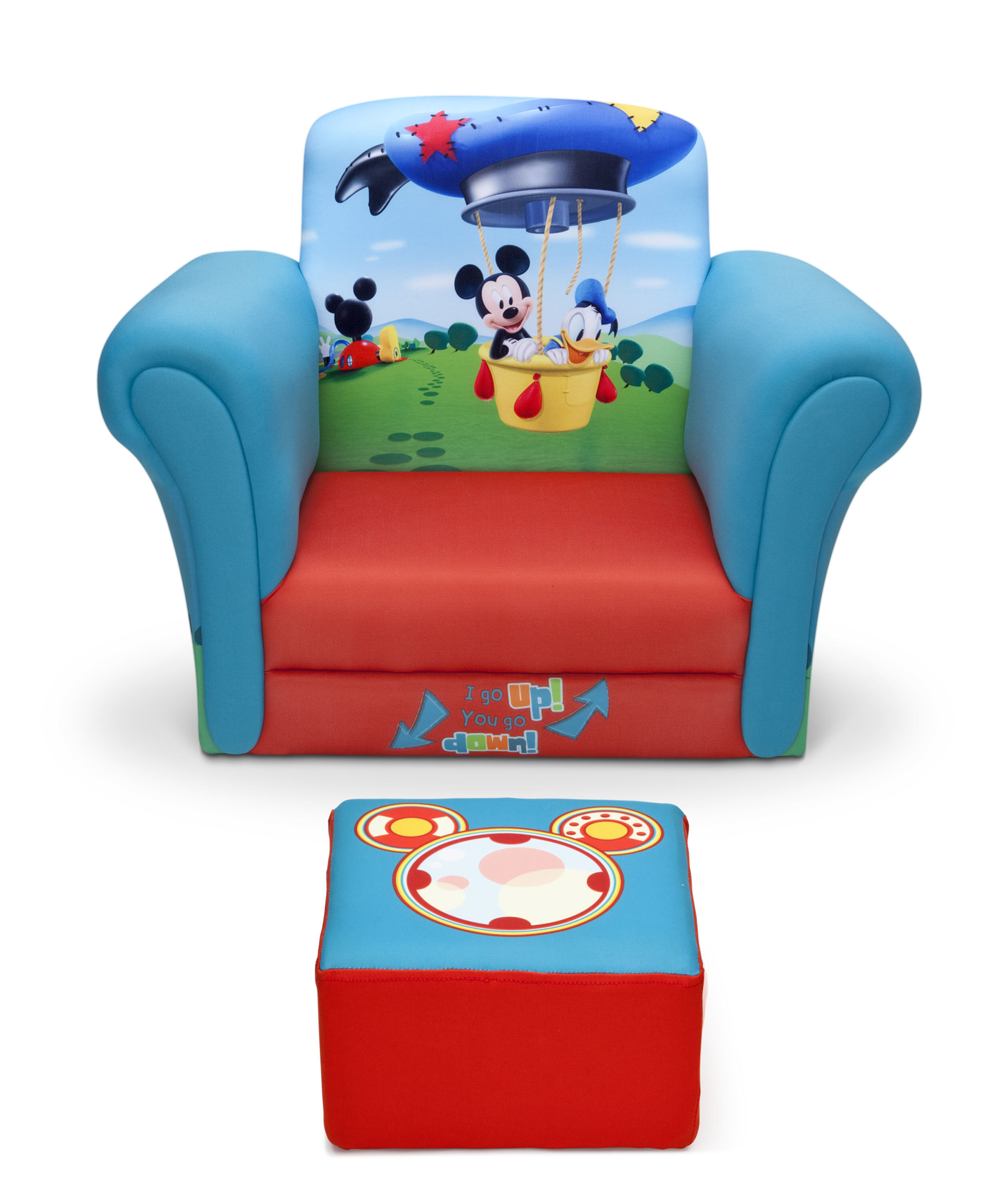 Incredible Mickey Mouse Upholstered Kids Club Chair And Ottoman Pdpeps Interior Chair Design Pdpepsorg