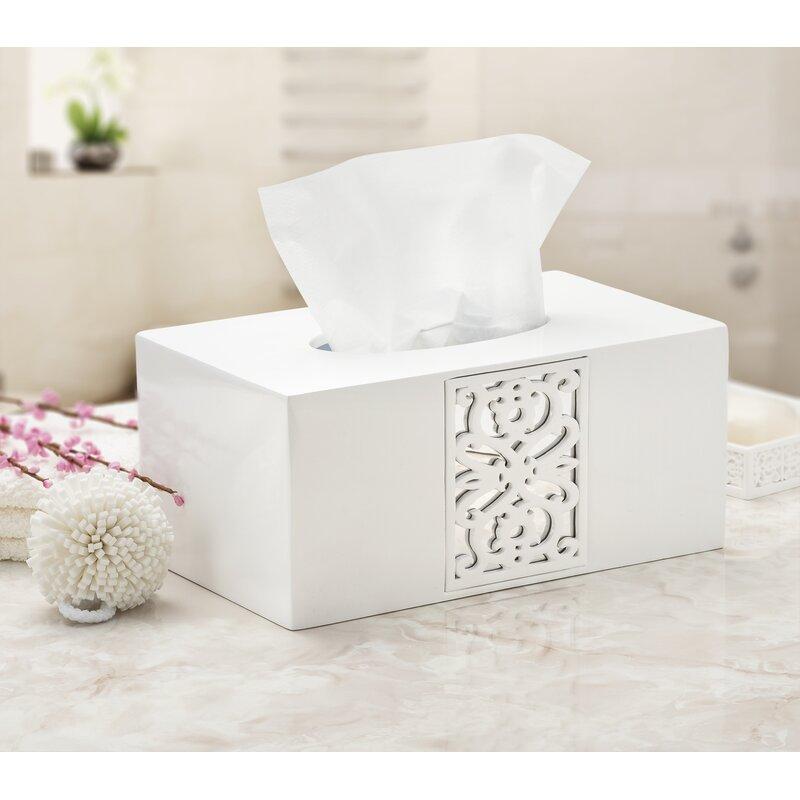 House Of Hampton Mirror Janette Rectangular Tissue Box Cover Reviews Wayfair