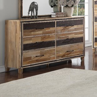 Hiro 6 Drawer Double Dresser by Loon Peak