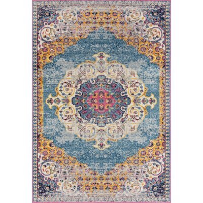 Bungalow Rose Penson Transitional Blue Area Rug Rug Size