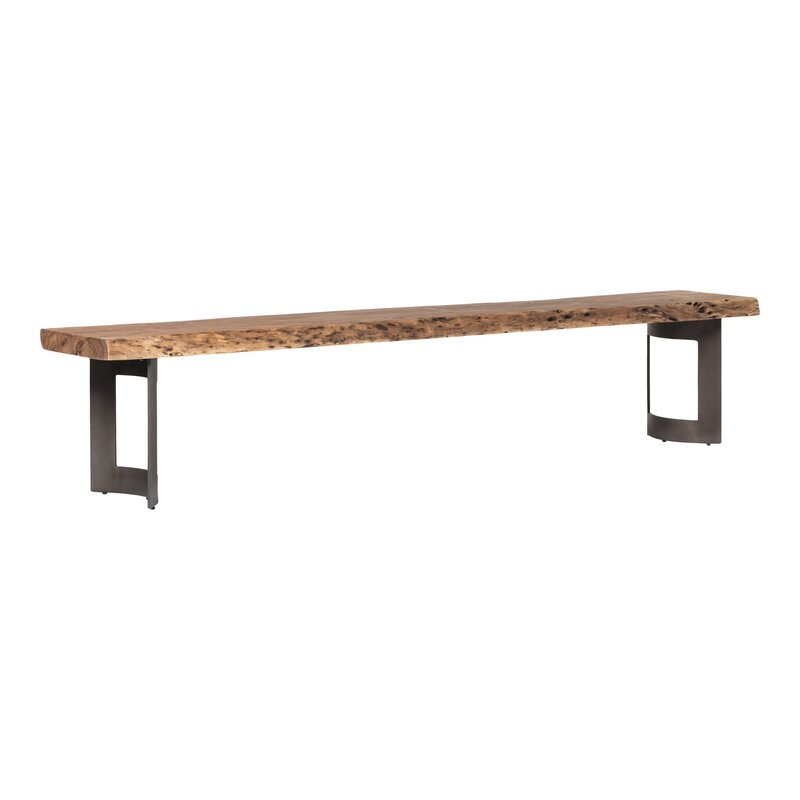 Fine Amelia Extra Small Smoked Wood Bench Machost Co Dining Chair Design Ideas Machostcouk