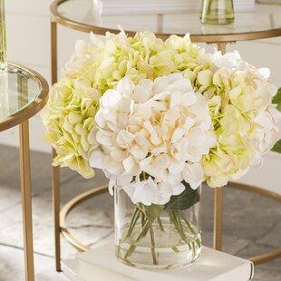 Silk flowers in acrylic water wayfair hydrangea in acrylic water vase mightylinksfo