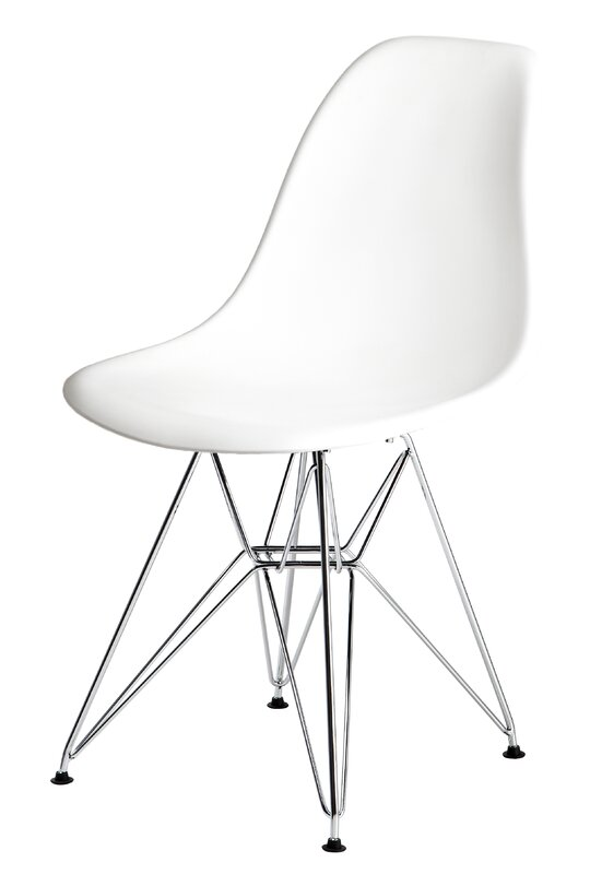 Wade Logan Maskell Side Chair in Solid White (Set of 2)