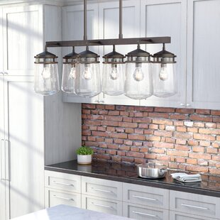 Affordable Iron Hills 6-Light Outdoor Chandelier By Trent Austin Design