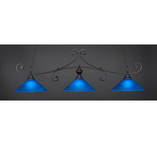 Jacksonville 3-Light Billiard Pendant by Red Barrel Studio