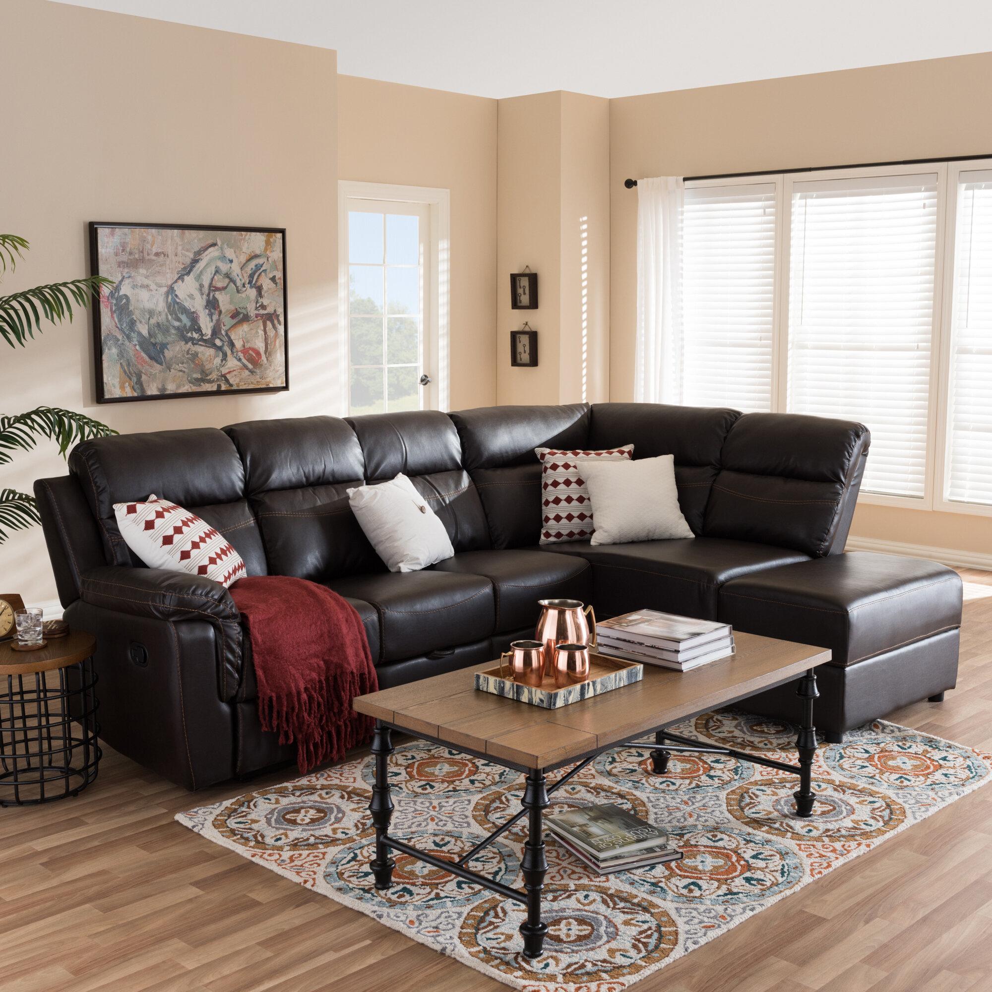 Phenomenal Abelardo Studio Right Hand Facing Reclining Sectional Dailytribune Chair Design For Home Dailytribuneorg