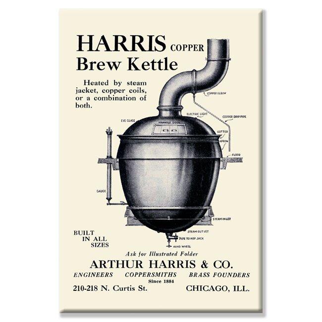 Buyenlarge Harris Copper Brew Kettle Vintage Advertisement On Wrapped Canvas Wayfair