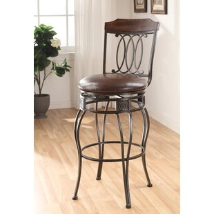 Enfield 29 Swivel Bar Stool (Set of 2) Fleur De Lis Living