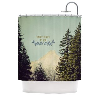KESS InHouse Happy Trails Shower Curtain