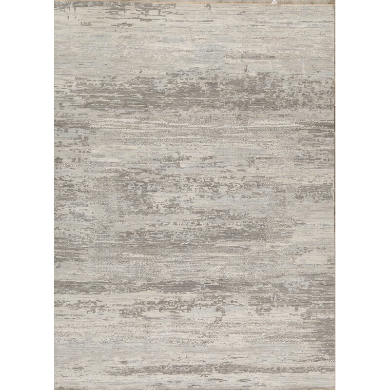 Bokara Rug Co Inc Neo Villa Abstract Hand Knotted Gray Area Rug Wayfair